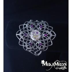 Bracelet Fleur mécanique Amethyst