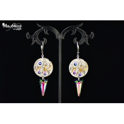 "Boucles d'oreilles Medium ""Spiky Beetle """