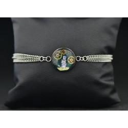 """Bracelet """"Cheshire chapelier """""""