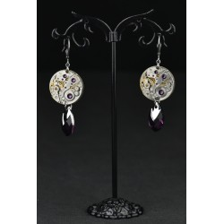 Boucles d'oreilles Moon Drop Purple