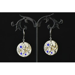 "Boucles d'oreilles ""Dont you forget about me "" blue"