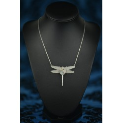"Collier "" Dragonfly"" blue"