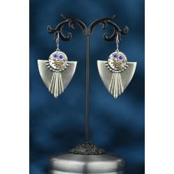 """Boucles d'oreilles""""Cassandre"""" Bleu royal"""