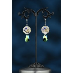Boucles d'oreilles Moon Drop Beetle