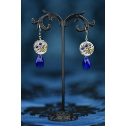 Boucles d'oreilles Moon Drop Deep Blue