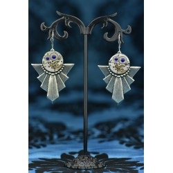 "Boucles d'oreilles ""Gatsby"" Bleu Royal"