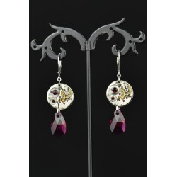 Boucles d'oreilles Moon Drop Red