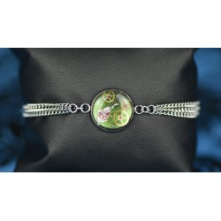"Bracelet en résine Green "" Run rabbit """