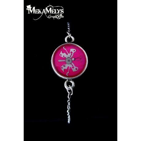 """Bracelet en résine """"Pinky Butterfly"""""""