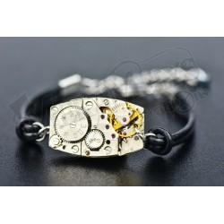 """Bracelet mécanique cuir """"Epsilon"""""""