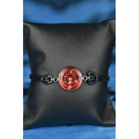"""Bracelet cuir """"Pieuvre """" rouge"""