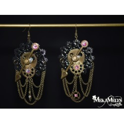 "Boucles d'oreilles engrenage "" Delicate Pirate"""