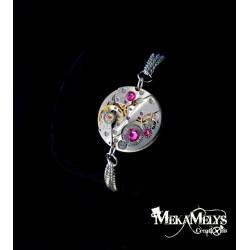 """Bracelet mécanique """" Eclat de rose"""""""
