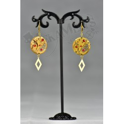 "Boucles d'oreilles ""Red Sunshine"""