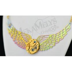 """Collier mécanique """" Gold Angel """""""
