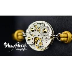 """Bracelet mécanique cuir """"Aureum"""""""