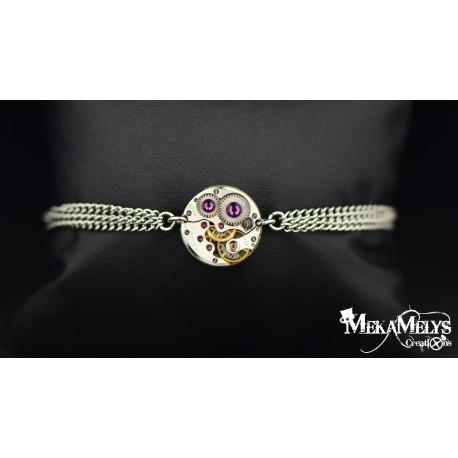 """Bracelet mécanique """"Purple rain"""""""