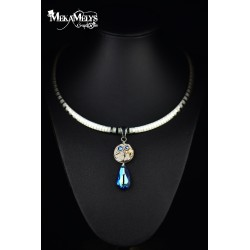 "Collier "" Blue Ice"""