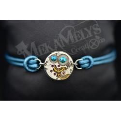 """Bracelet mécanique cuir """"Mermaid"""""""