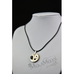 "Collier cuir "" Black skull"" """
