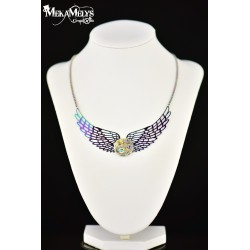 "Collier ""Angel "" Silver ranbow"
