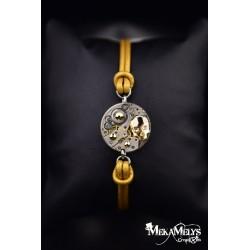 "Bracelet mécanique cuir ""  Skull Aureum"""