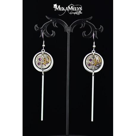 """Boucles d'oreilles  """"Pendulum"""" Silver"""