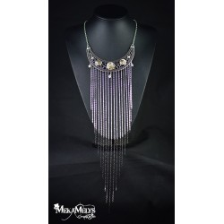 "Collier plastron "" Waterfall ""Crystal"