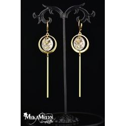 "Boucles d'oreilles ""Pendulum ""Gold"
