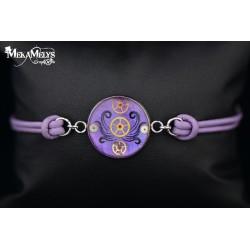 """Bracelet """" Violet tentacles"""""""