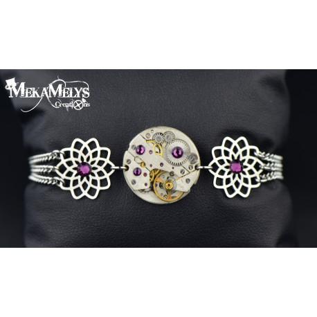"""Bracelet """" Purple flower"""""""