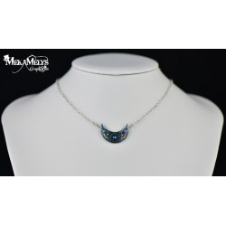 "Necklace Blue "" Luna """