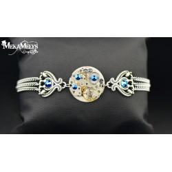 """Bracelet mécanique Metallic Blue  """"Nativis"""""""
