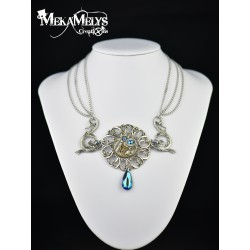 "Collier steampunk "" Calypso """