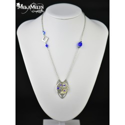 "Collier ""Grand Duc ""Blue"