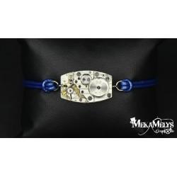 """Bracelet mécanique cuir Blue """"Epsilon"""""""